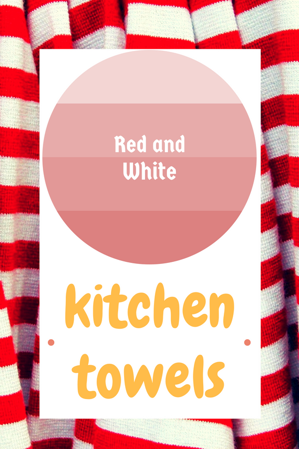 Red and White Kitchen Towels