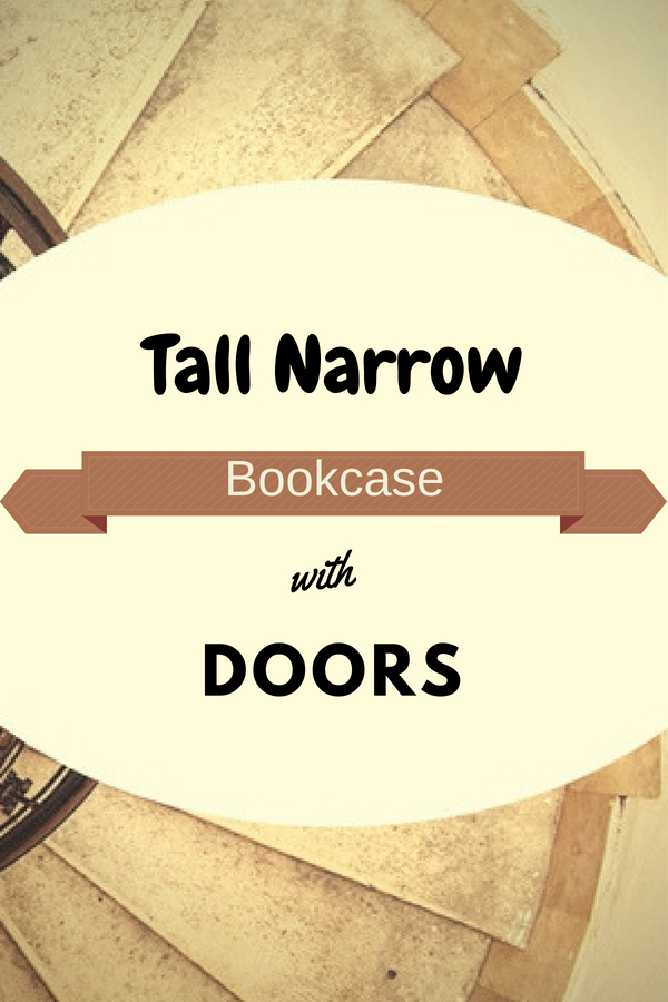 Tall Narrow Bookcase with Doors