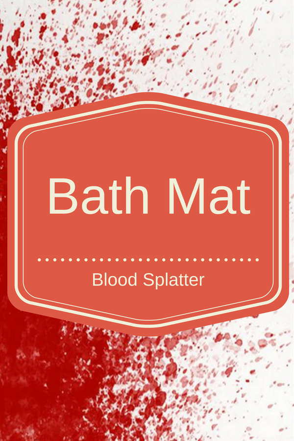 Blood Splatter Bath Mat