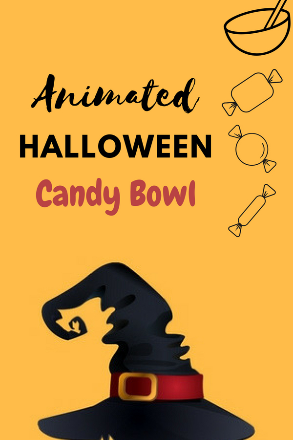 Animated Halloween Candy Bowl