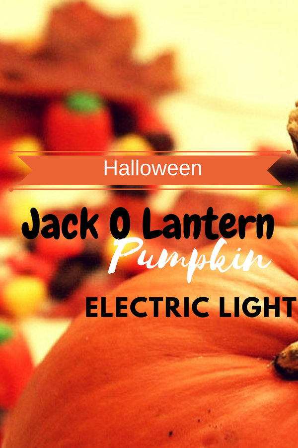 Halloween Jack O Lantern Pumpkin Electric Light