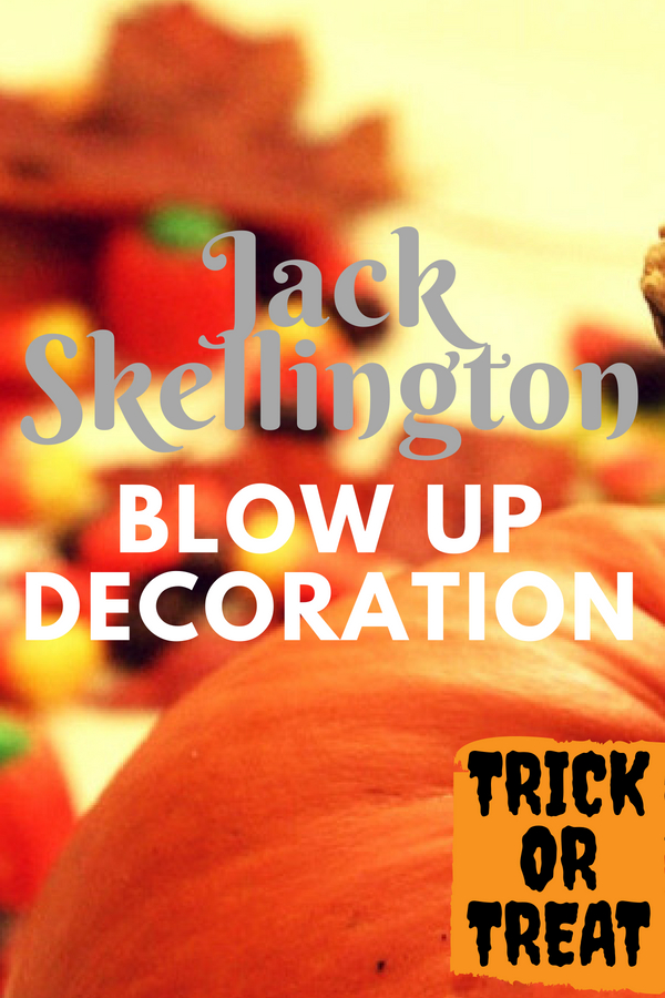 Jack Skellington Blow Up Decoration