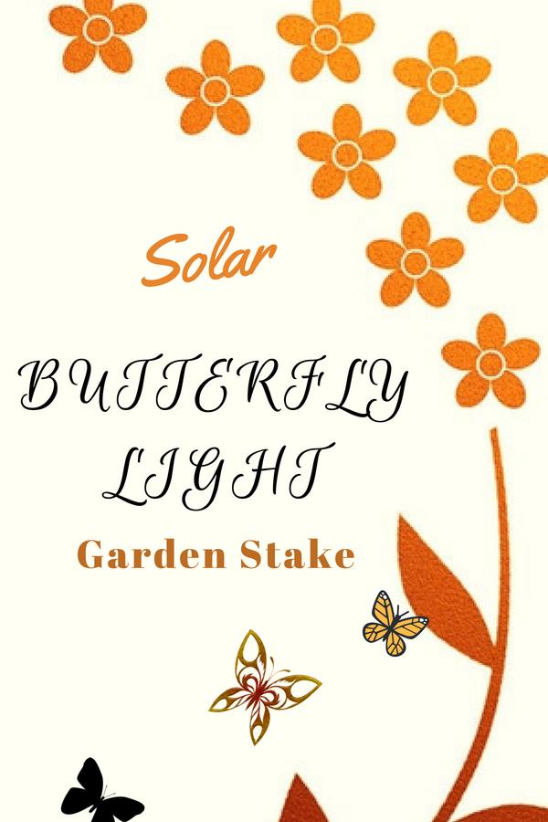 Solar Butterfly Light Garden Stake