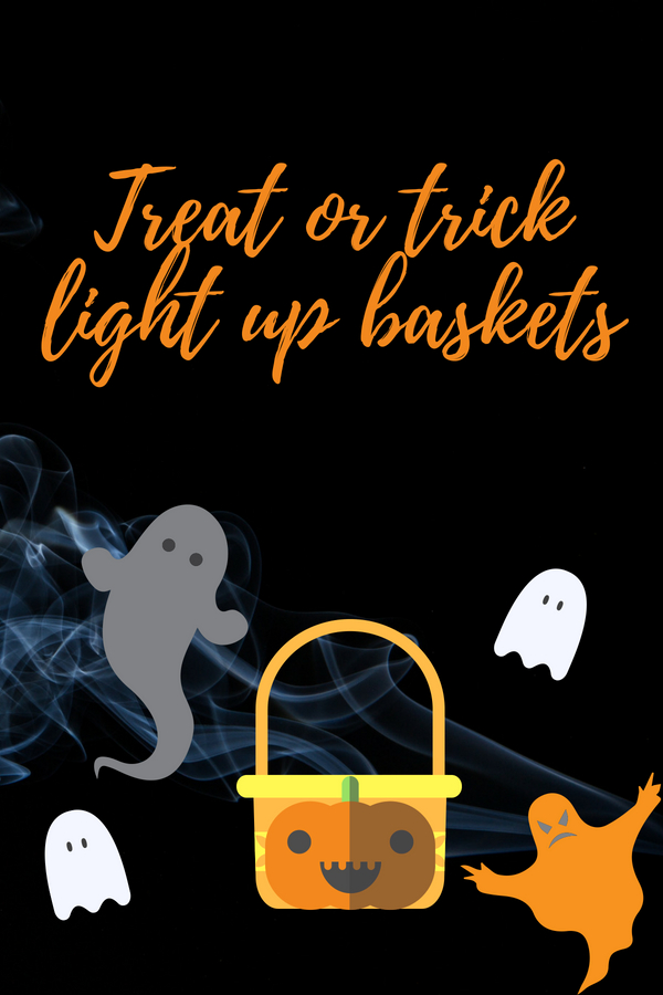 Light Up Halloween Buckets
