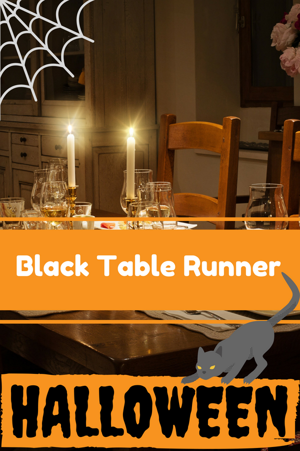 Black Halloween Table Runner