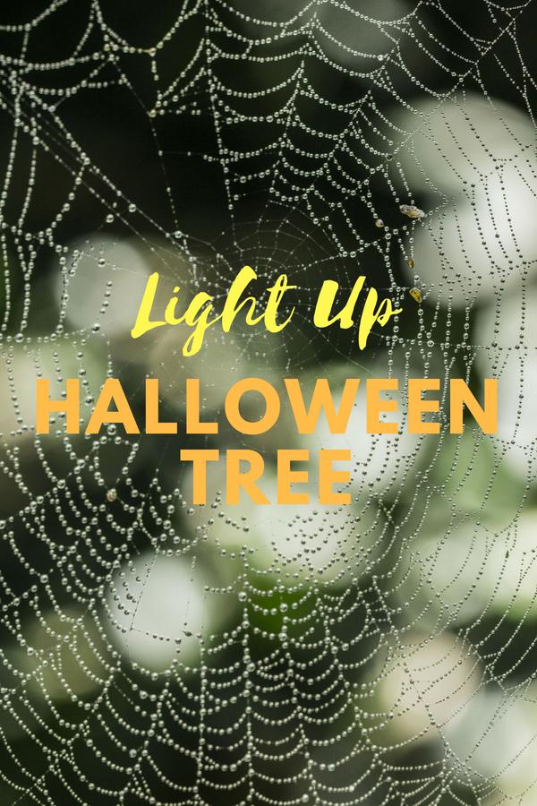 Light Up Halloween Tree