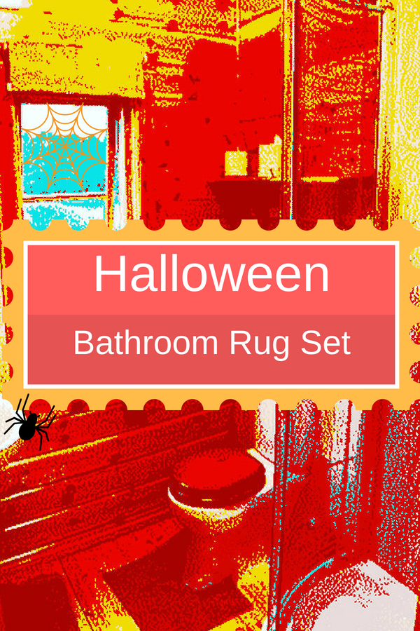 Halloween Bathroom Rug Set