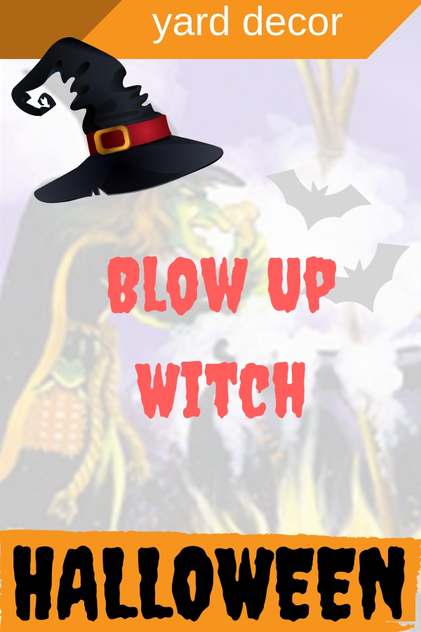 Halloween Blow Up Witch Yard Decorations