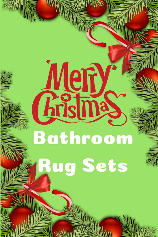 Christmas Bathroom Rug Sets