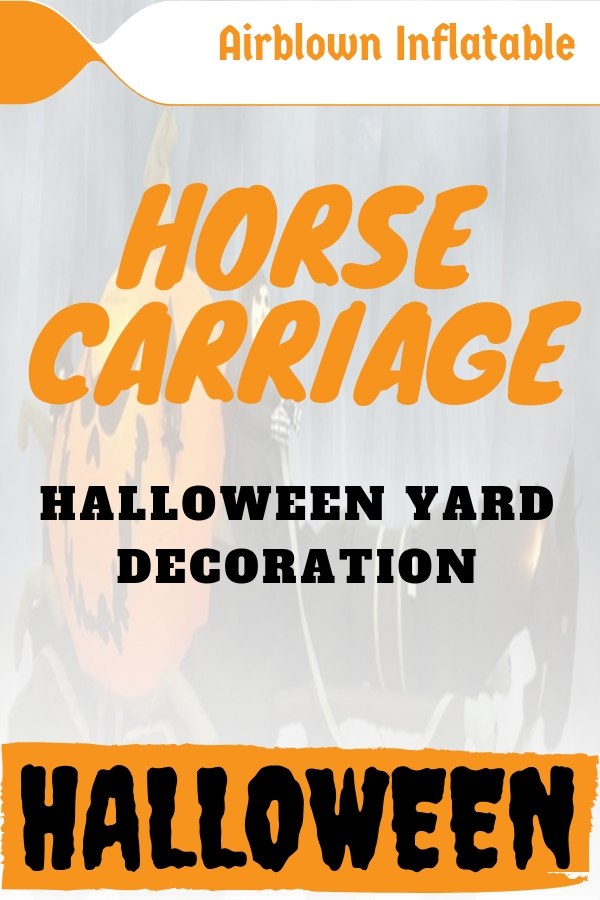 Halloween Inflatable Horse Carriage