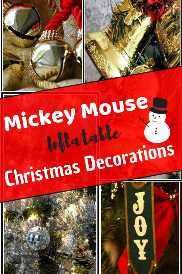 mickey mouse inflatable christmas decorations
