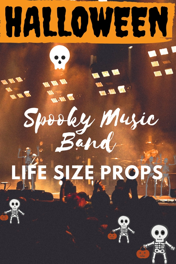 Life Size Spooky Music Band Skeleton Zombie Halloween Props