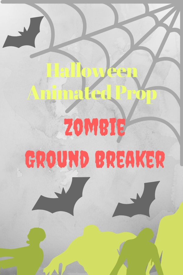 Halloween Animated Zombie Ground Breaker Prop