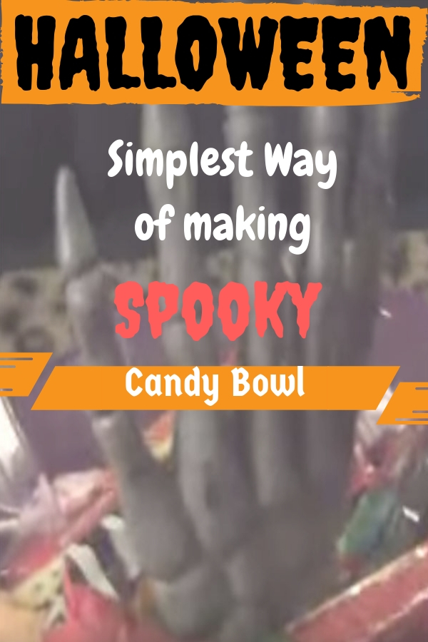 how to make an unique spooky halloween candy bowl