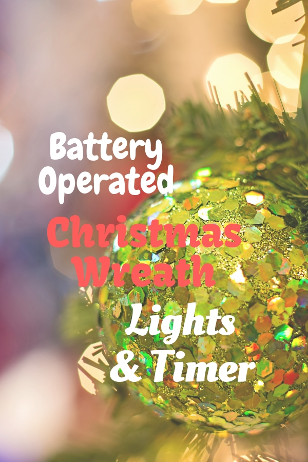 battery operated christmas wreath lights with timer - Battery Operated Christmas Wreaths