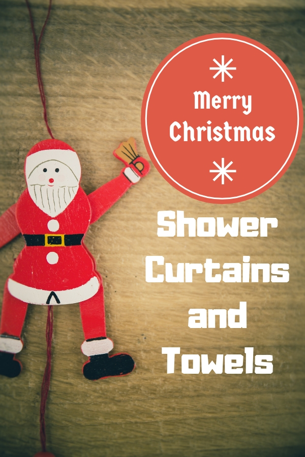 Christmas Shower Curtains and Towels