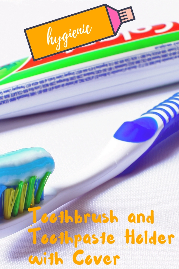 Toothbrush and Toothpaste Holder with Cover