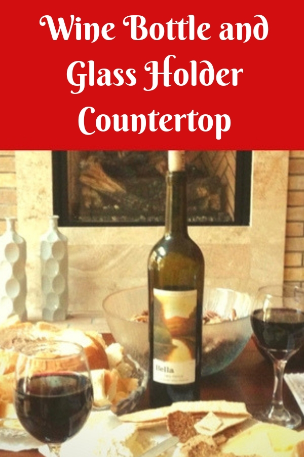 Wine Bottle and Glass Holder Countertop
