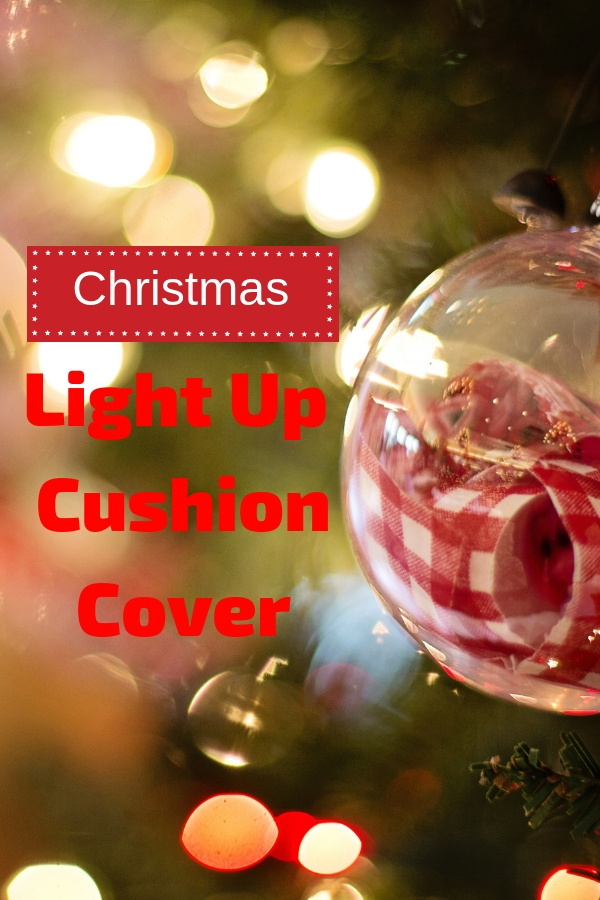 Light Up Christmas Cushion Cover