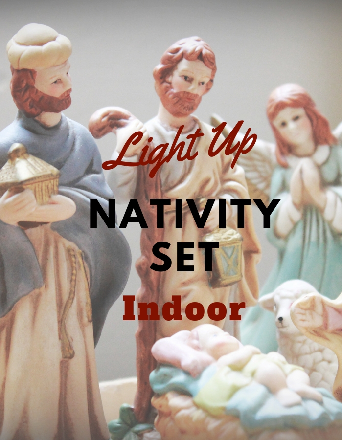 Light Up Nativity Set Indoor
