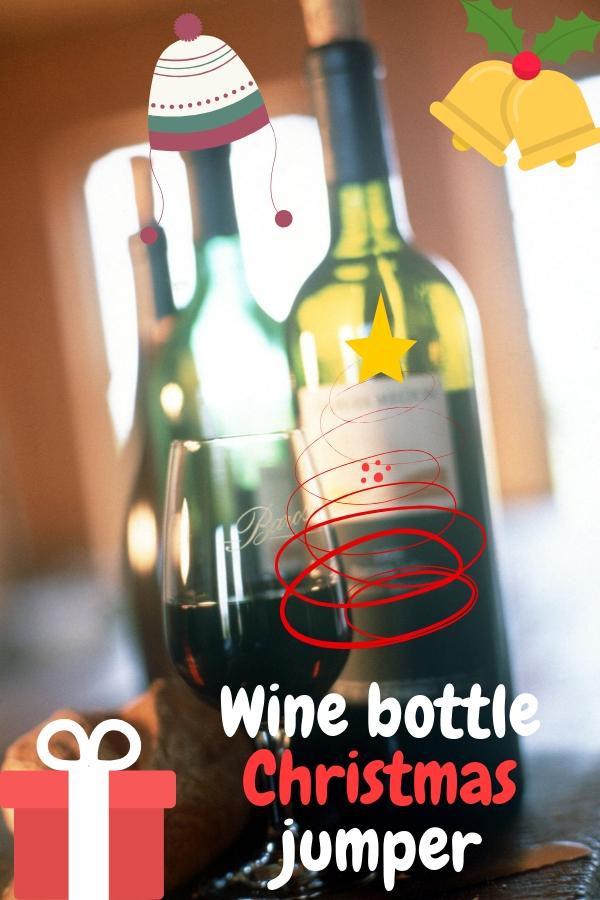 Wine Bottle Christmas Jumper
