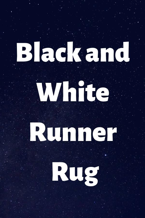 Black and White Runner Rug