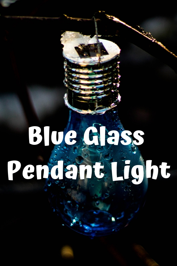 Blue Glass Pendant Light