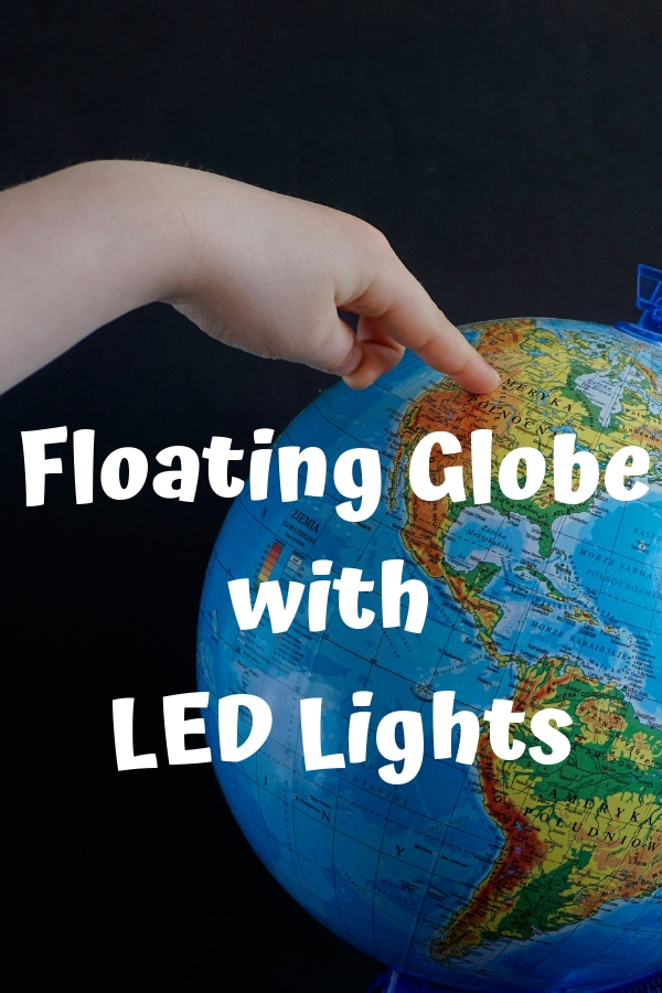 Floating Globe with LED Lights