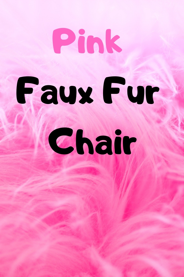 Pink Faux Fur Chair