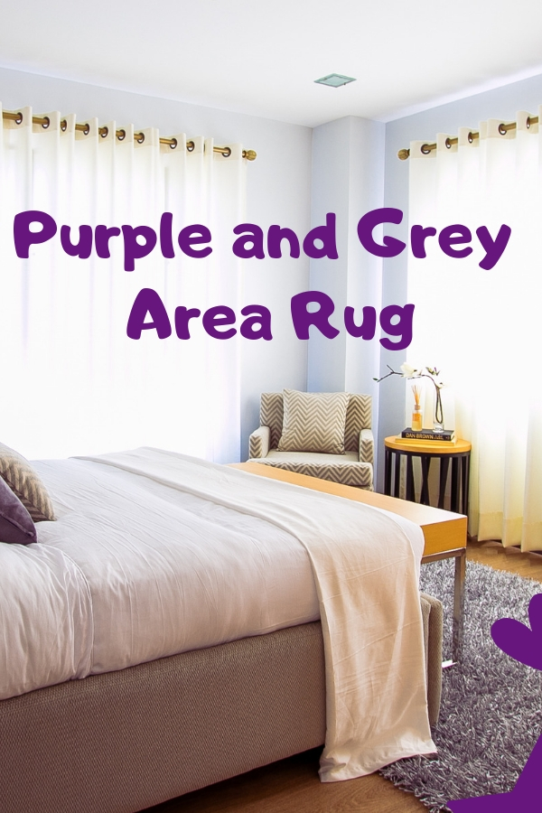 Purple and Grey Rug