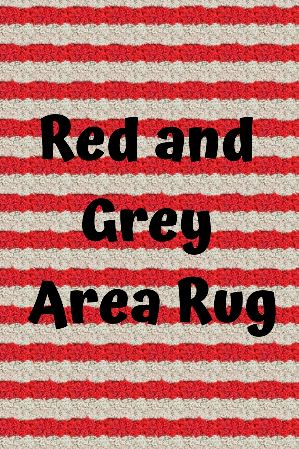 Red and Grey Rug