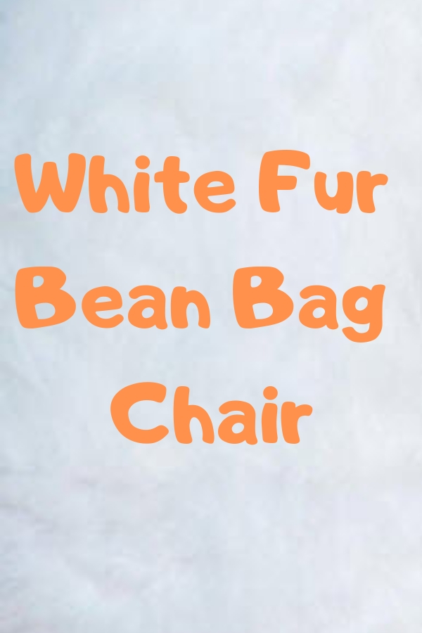 White Fur Bean Bag Chair