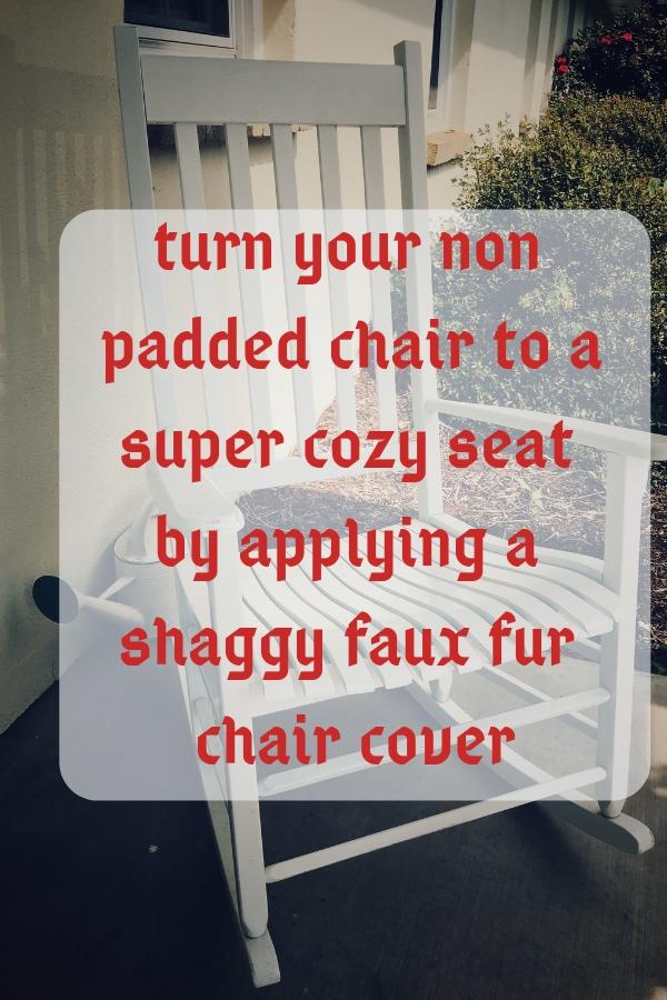 Faux Fur Chair Cover