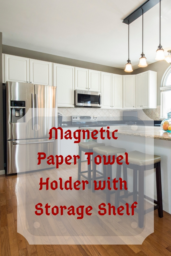 Magnetic Paper Towel Holder with Storage Shelf