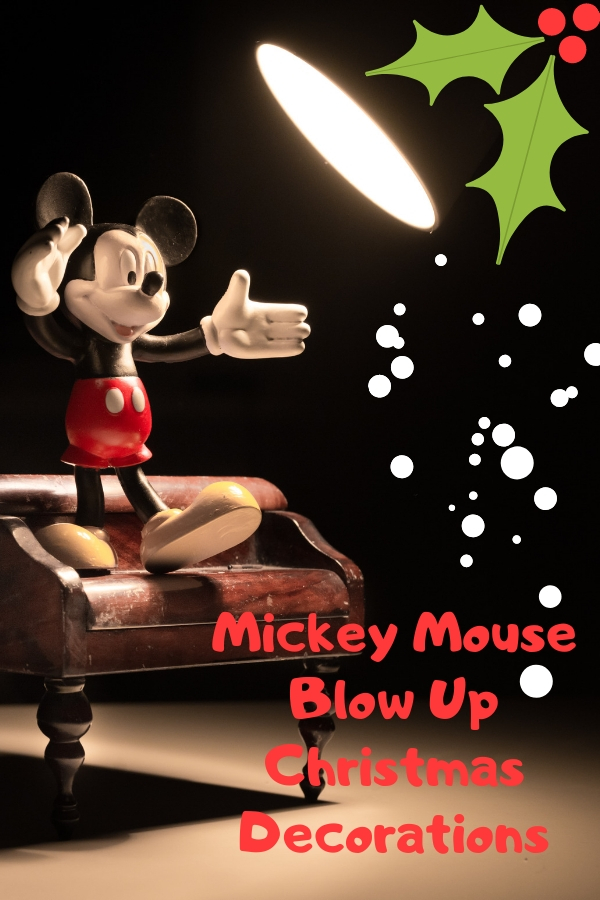 Mickey Mouse Blow Up Christmas Decorations