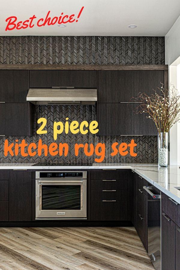 2 Piece Kitchen Rug Set