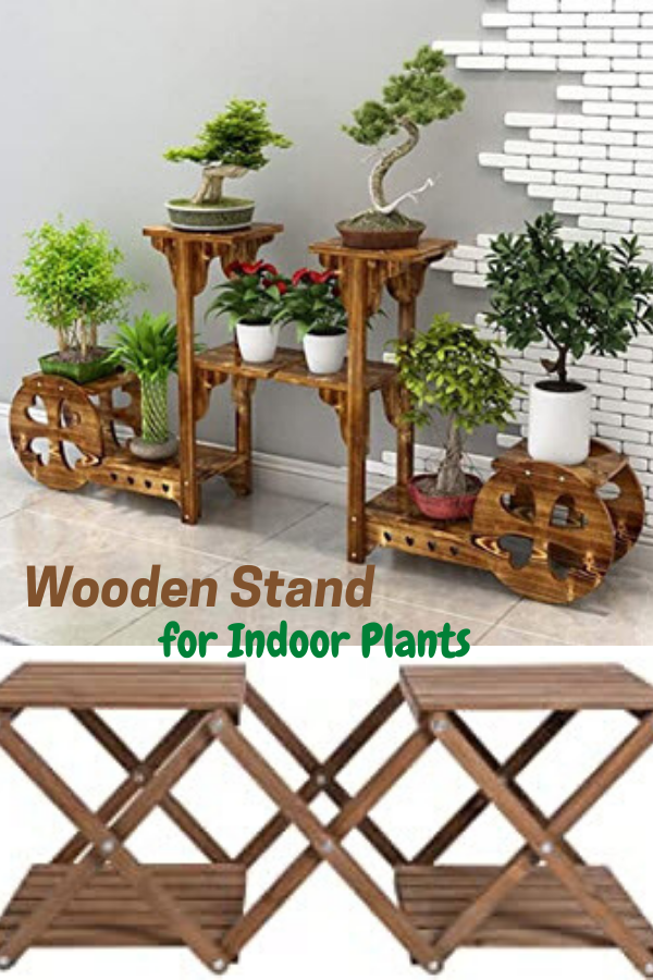 Wooden Stand for Indoor Plants
