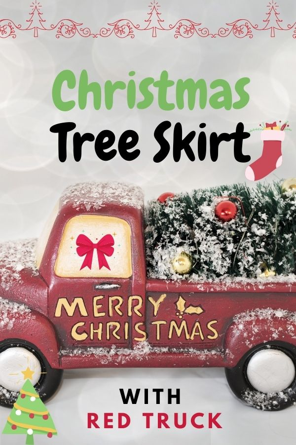 Christmas Tree Skirt with Red Truck