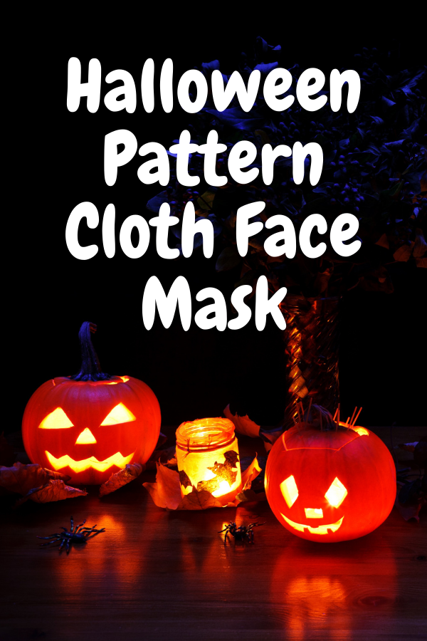 Halloween Pattern Cloth Face Mask for Adult
