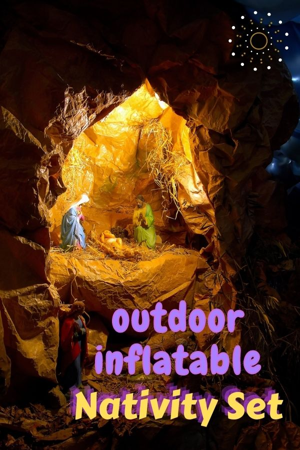 Outdoor Inflatable Nativity Set