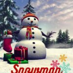 snowman christmas window stickers