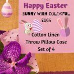 easter cotton linen throw pillow cases