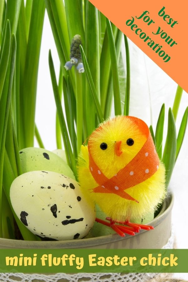 Mini Fluffy Easter Chick Decorations