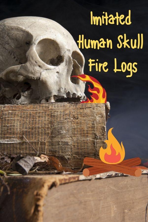 Imitated Human Skull Fire Logs