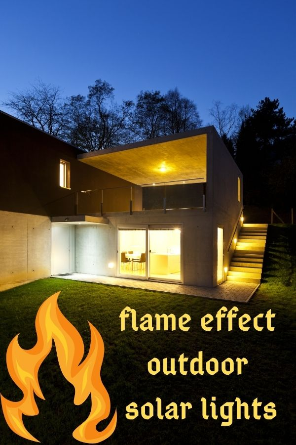 Flame Effect Outdoor Solar Lights