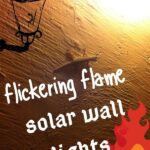 flickering flame solar wall lights