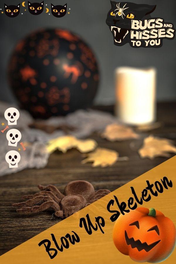 Blow Up Halloween Skeleton for Outdoor Decor